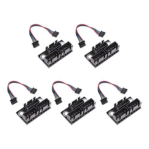 5 unids dual Z motores de pasos paralelos módulos con cable de 100 mm para impresora 3D piezas accesorios