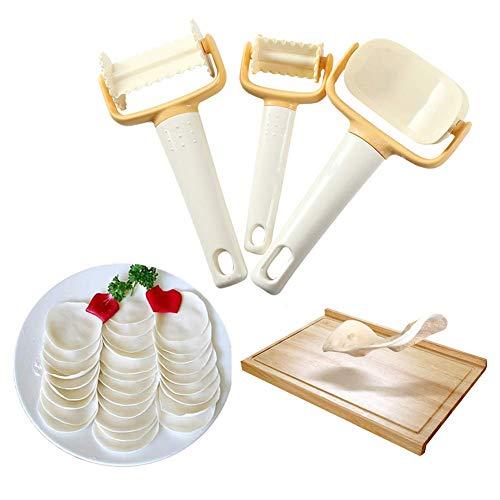 WENTS Teigschneider - Ausstechformen Scheiben-Biskuit-Plätzchen-Teig Schneider Ravioli-Ausstecher Cutter Keks Cookies Maker Für Plätzchen Dumpling 3pcs