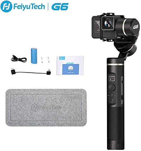 G6 3-Axis Handheld Camera Gimbal Stabilizer for GoPro Action Camera with WiFi Bluetooth OLED Screen for GoPro Hero 8 7 6 5 Sony RX0 Yi 4k DJI Osmo...