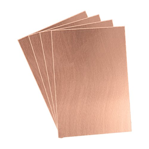 uxcell 7X10cm Single Sided Copper Clad Laminate PCB Circuit Board Brown 4pcs