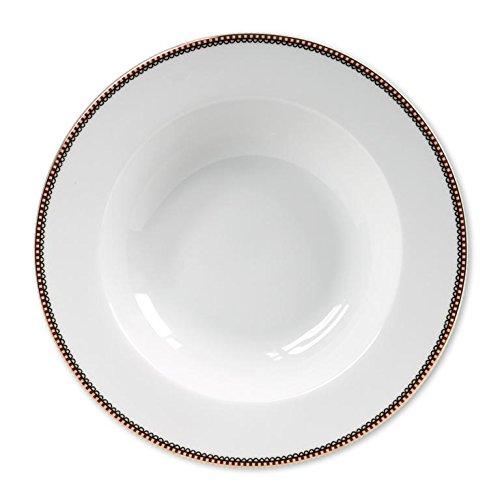 PIP STUDIO 51001053 Assiette Plate Blanc, Porcelaine, 26,5 x 26,5 x 2,2 cm