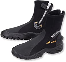 SEAC Super-Stretch Zippered Hard Sole Dive Boots Booties
