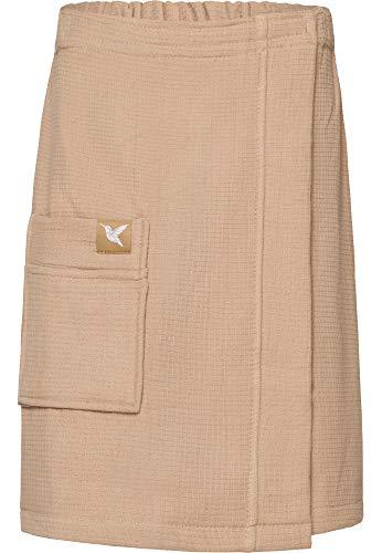 Ladeheid Kilt Toalla de Sauna de Terry Cloth Hombre LA40-197 (Beige8, L-XL)