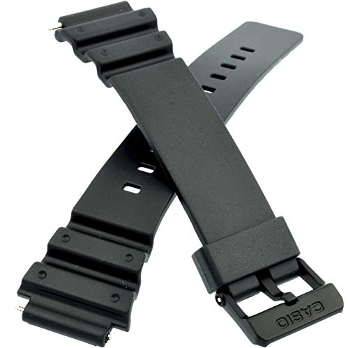 Genuine Replacement for Watch Band 17mm Black Rubber Strap Casio #10393907 MRW-200H-1B2V MRW-200H-1BV MRW-200H-1EV MRW-200H-2B2V MRW-200H-2BV MRW-200H-3BV MRW-200H-4BV MRW-200H-4CV MRW-200H-7BV