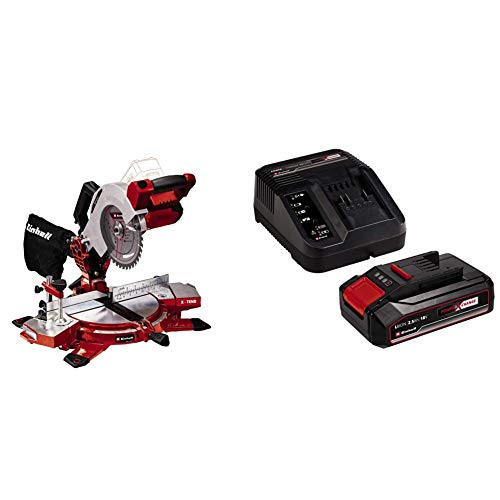 Einhell Troncatrice TE-MS 18/210 Li - Solo Power X-Change + 2,5 Ah Power X-Change Batteria