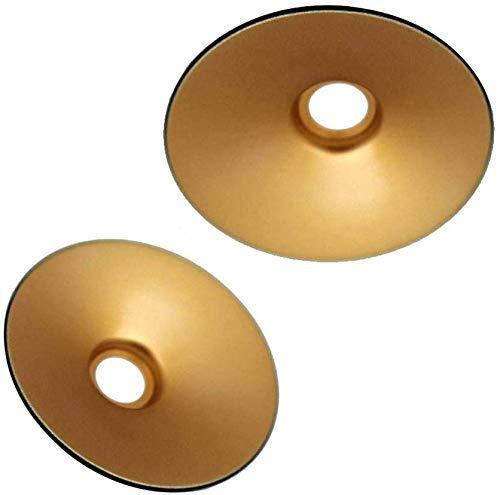 LIXHZJ Cubierta de Techo Industrial del Metal de la Sombra de luz del Colgante Retro de la Vendimia.(Rojo rústico, 2)? Código del Producto: WW-176 (Color : Black Outer Gold Inner, Size : 2)