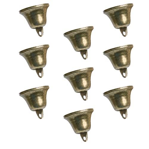 Luxshiny - Campanelle per albero di Natale, 18 pezzi, campanelle da appendere in argento, decorazione per la casa, per feste, camino, giardini