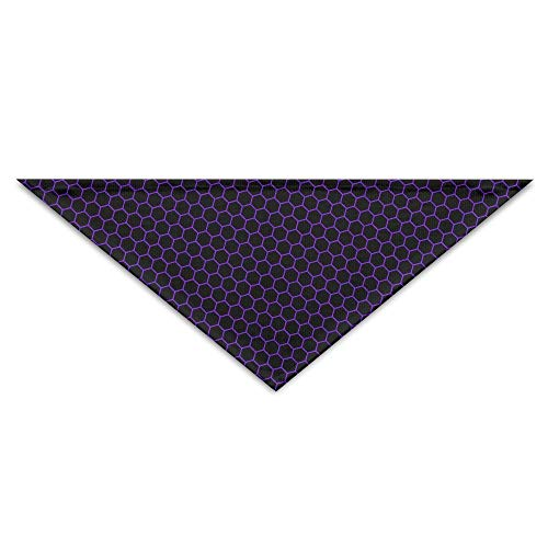 Honeycomb Black Purple Hexagon Turban Triangle Scarf Bib Scarf Accessories Pet Cat and Baby Puppy Saliva Dog Towel