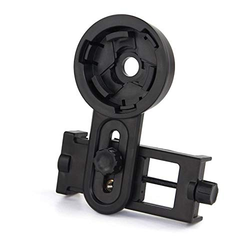 Hyy-yy Microscopio telescopio de conexión de soporte del adaptador de montaje universal for el soporte del módulo de lente de la cámara del smartphone (Color : Black)
