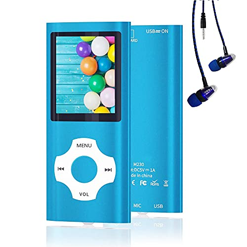 MP3 Player, Hotechs Music Player with 16GB Memory SD Card with Photo/Video Play/FM Radio/Voice Recorder/E-Book Reader
