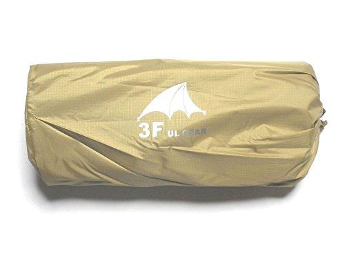 3F UL GEAR 多目的ト 防水マルチシート ダークグリーン カーキ 4m×3m /5m×3m タープ・ピクニックシート・簡易雨具・グランドシート シームテープ5m付 (カーキ, 4m×3m)