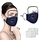 Cloth Reusable Washable Face Cover With Eyes Shield Anti-Dust | Comfortable Breathable Cotton Fabric Mouth Cover | Adult Unisex Women Men Home Office Travel Healthcare