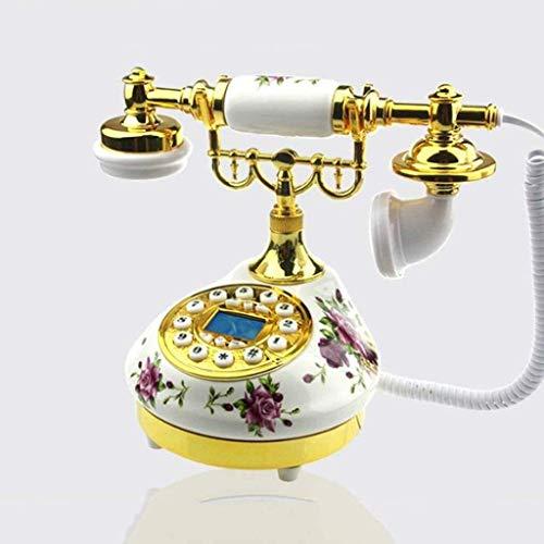 LDDZB Hotel Dormitorio Teléfono Europeo Hh-end Cerámica Hogar Teléfono fijo Idyllic Retro Teléfono