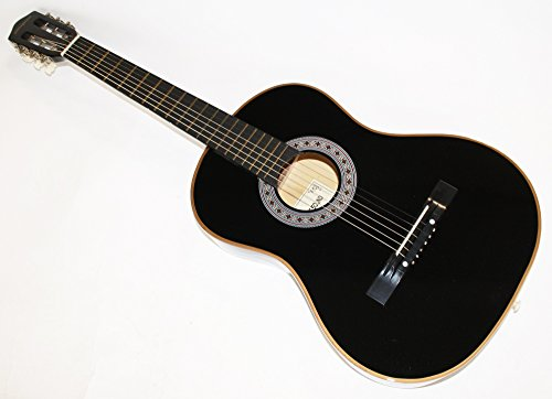 Cherrystone Konzertgitarre Akustik Gitarre Schülergitarre Größen- und Farbwahl (7/8, schwarz)