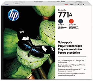 HP 771 Printhead/771A Matte Black/Chromatic Red Original Ink Cartridge Value Pack