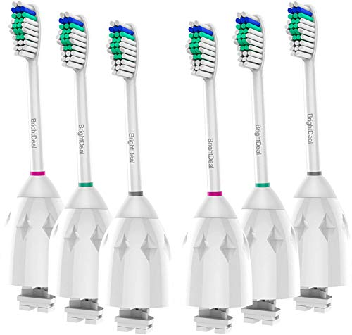 BrightDeal Replacement Toothbrush Heads Compatible with Philips Sonicare Toothbrush Electric Handle, for Sonicare E Series Essence, Xtreme, Elite, Advance, and CleanCare Toothbrush 6 Pack