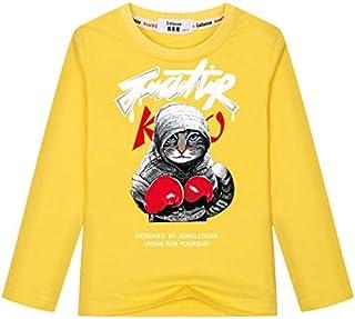 تي شيرتات - تي شيرت أطفال جديد مطبوع عليه Spring Super Cool Boxing Cat Attack تصميم مضحك للأطفال ملابس أطفال كرتونية للأول...