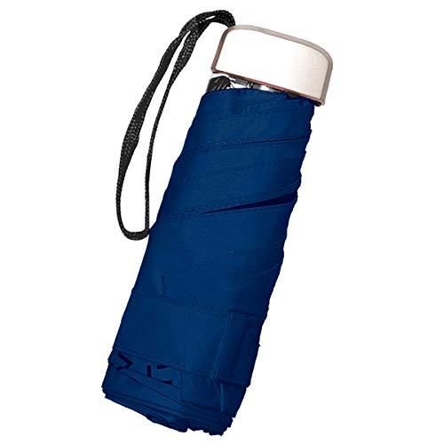 JoyCube Draagbare Mini-Opvouwbare Paraplu | Hoogwaardige Lichtgewicht 210T Nylon Paraplu met Parapluhaak | Sneldrogend, Uniseks | UV-Bescherming en Regendicht(Navy)