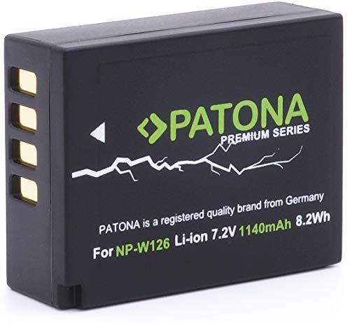 PATONA Premium Ersatz für Akku Fujifilm NP-W126 NP-W126s (echte 1140mAh)