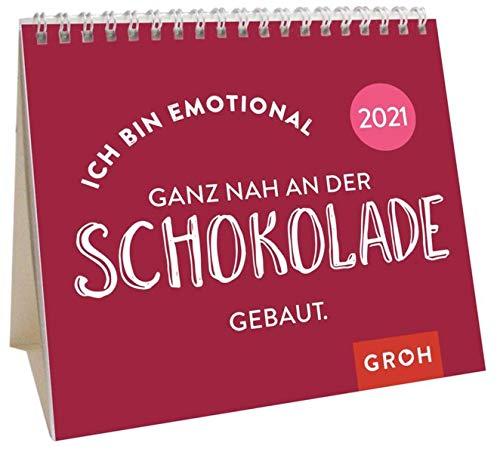 Ich bin emotional ganz nah an der Schokolade gebaut. 2021: Mini-Monatskalender. Kleiner Aufstellkalender mit Monatskalendarium