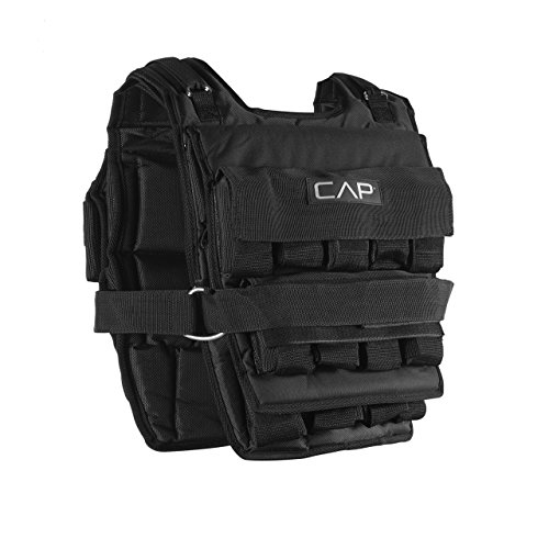 CAP Barbell Adjustable Weighted Vest, 150 lb