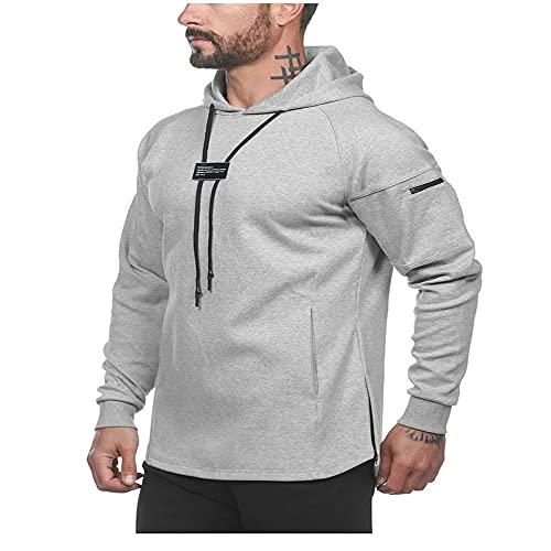 ZYSK Sudadera para Hombre Suéter Jersey Sudadera con Capucha Top de Fitness de Algodón Deportivo y de Ocio para Hombre