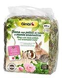 Gimbi Fieno con Petali di Rosa e Menta Aromatica - Confezione da 500 gr