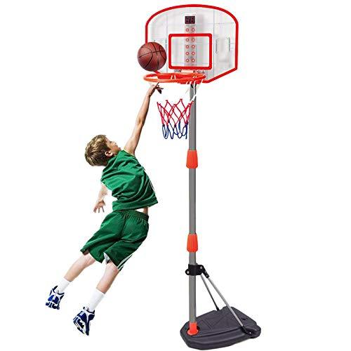 ZXCVB Aro de baloncesto para interior, marco de tiro para niños, marco de tiro interior, soporte de baloncesto de altura ajustable portátil con perforación gratis
