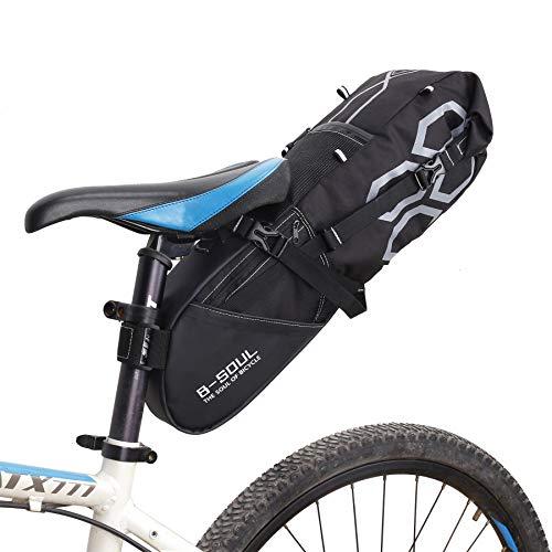 KuanDar Sport 12L Sacoche de Cadre Velo,Vélo Arrière Siège Bagage Paquet, Multi Fonction Excursion Cyclisme Équitation Voyage, Imperméable Grande capacité Tronc des Sacs