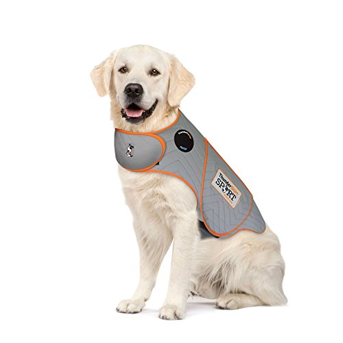 Thundershirt Sport Dog Anxiety Jacket | Vet Recommended Calming Solution Vest for Fireworks, Thunder, Travel, Separation | Platinum, X-Large