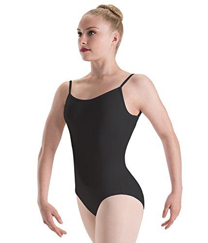 Motionwear Camisole Leotard with Adjustable Strap, Black, X-Large Adult