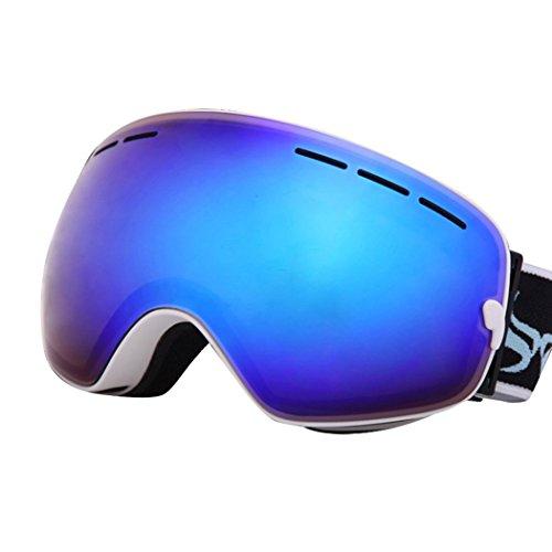 JoySki 7 kleuren professionele unisex skibril met spiegel coating anti-fog UV400 bescherming afneembare groothoek grote sferische dubbele lens voor vrije sneeuw skiën snowboard skate snowmobile motorfiets wintersport brillen