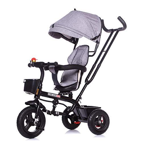 XHSLC Trikes kinderdriewieler 3 fiets 1-5 jaar oud kinderwagen baby trolley met draaistoel voor kinderen (kleur: paars)