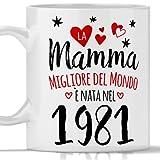 Tazza mamma 40 anni regalo donna per compleanno