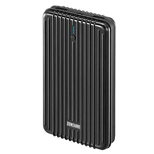 JIEXIAO 20000Mah Mobile Power Bank Super-Capacity Portable Charger with Dual Fast Charging External Battery Packs, Compatible with A Variety of Devices,Black