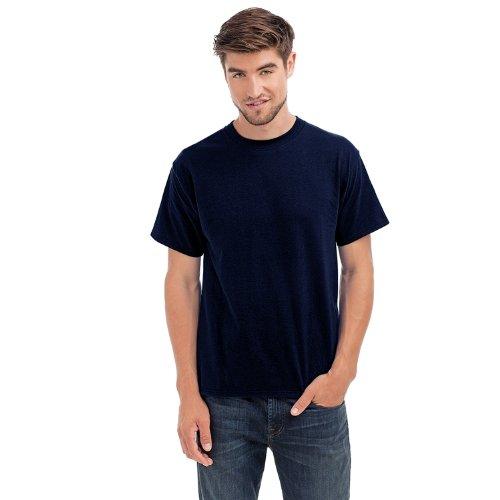 Hanes Beefy-T - Herren T-Shirt - Rundhalsausschnitt - einfarbig - Dunkelblau - XL