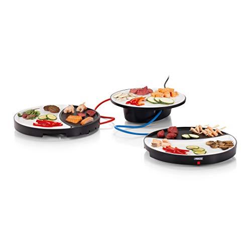 Princess Dinner4All Tischgrill - für bis zu 2 Personen, abnehmbare Porzelanplatten, inklusive Holzspatel, 103082