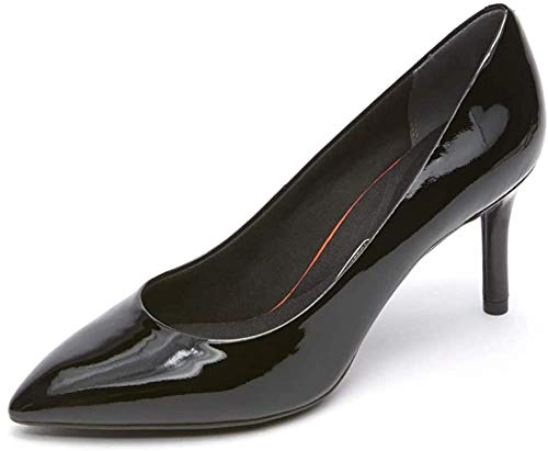 Rockport Womens Total Motion 75mm Pointy Pump, 7 M, Black Patent