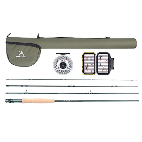 Maxcatch Explorer Fly Fishing Combo Kit 3/5/8 weight Fly Rod and Reel Outfit (6wt Rod Combo)