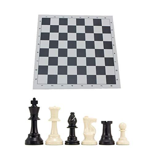 BUIDI Ajedrez Juego de ajedrez Triple ponderado y Tablero de ajedrez Das Schach Schwarz