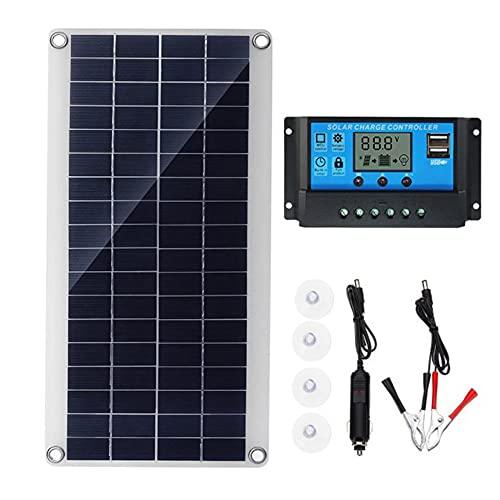 Lightofhope Cellules Solaires Flexibles de Panneau Solaire de 300W pour la Batterie Solaire de Camping de Fourgon de Toit de Bateau de Voiture Rv, Module de Contrrleur Solaire 30A