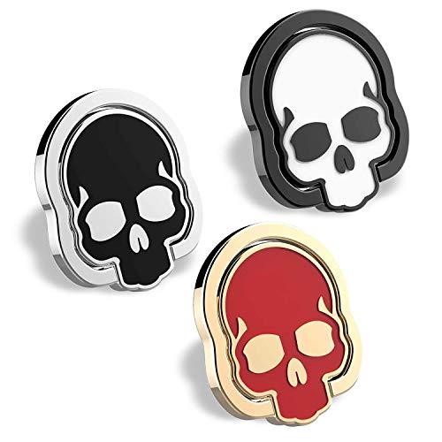homEdge Agarre del Anillo del cráneo del teléfono Celular, 3 Paquetes 360 ° Titular Ajustable del Anillo de Dedo, Conveniente para el Soporte magnético Kickstand del Coche