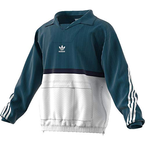adidas adidas Herren Drill Pullover, blau (azcere/weiß), XS