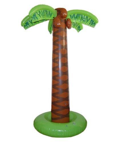 Smiffys Palme aufblasbar, grün-braun ,180cm