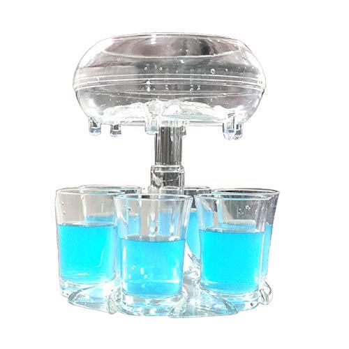 Vasos de fiesta para 6 chupitos de vino, vasos transparentes y portavasos para rellenar líquidos, soporte para colgar con tazas (blanco transparente, talla única)