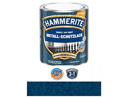 750 ml Hammerite Direkt auf Rost Metall-Schutzlack Dunkelblau, Hammerschlag