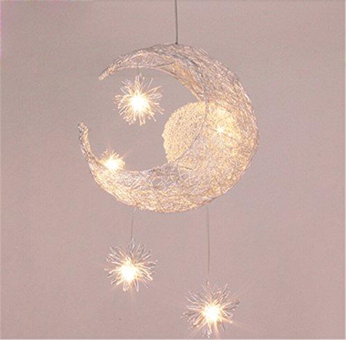 Malovecf Lampadari Plafoniera Luce LED per Moon and Stars, Luce Calda