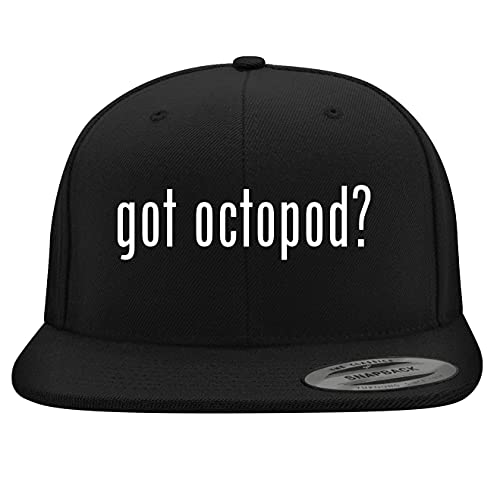 BH Cool Designs got Octopod? - Yupoong 6089 Structured Flat Bill Snapback, Black, One Size