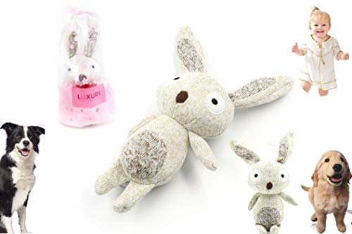 Luxury Pet Toys, Dog Squeaky, Plush Bunny,chew Toys,Toys for Dogs,Gift Toys Children's Toys,Baby Toys, Kids Toys,Baby Gifts, with Stuffing for Small Medium Large,2-in-1 Top Edition, 100 Quality