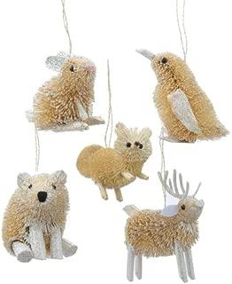 Kurt Adler 3.5-Inch Buri Winter Animal Christmas Ornament Set of 5